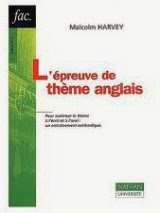 Livre : L'epreuve de theme anglais / Gratuitement    This book provides a systematic training in English theme. It offers numerous excerpts of journalistic and literary texts, many of which are borrowed from the annals of CAPES and Aggregation English. Each chapter begins with a reminder of the main difficulties usually encountered by students. The examples of these questions are then presented by point of translation in order of increasing difficulty. The corrected is provided in the second part. Designed for self-employment, this manual can acquire or consolidate reflexes sure to pass the test subject, both written and oral