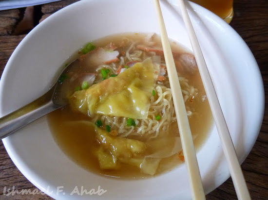 Egg noodle soup of Double Dogs Tea Room, Bangkok Chinatown