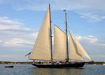 schooner, sails, ocean, navigation