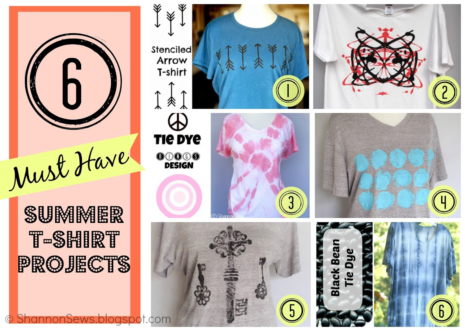 t-shirt decorating ideas summer kids adults fabric paint, tie dye, ink blot