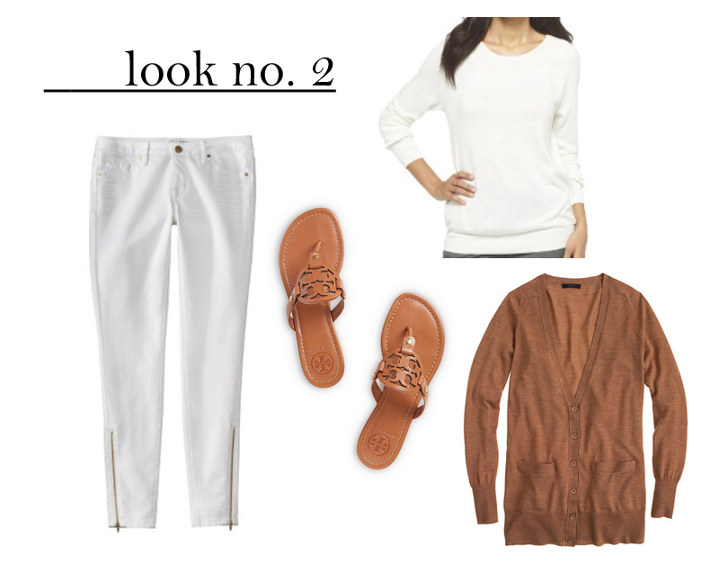 winter white target outfit cardigan tory burch