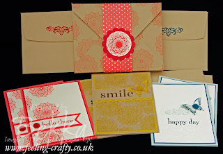 Envelope Punch Board Box of Cards using the Happy Day Stamp Set