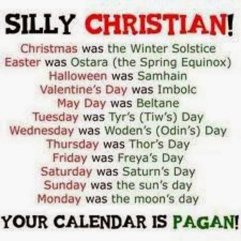 I AM, The Word, and The Comforter: Pagan Holidays: Christmas