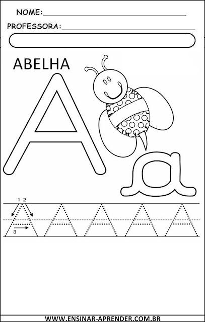 Atividades com todas as letras do alfabeto