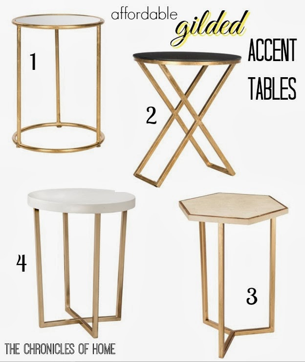 Get a high-end look for less with these golden accent tables, all affordably priced!