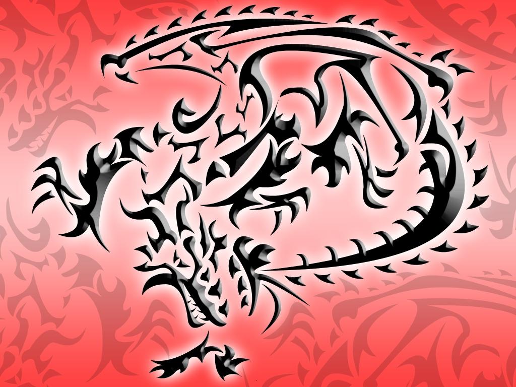 Tribal Dragon Wallpaper