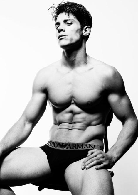 Carlos Freire in underwear
