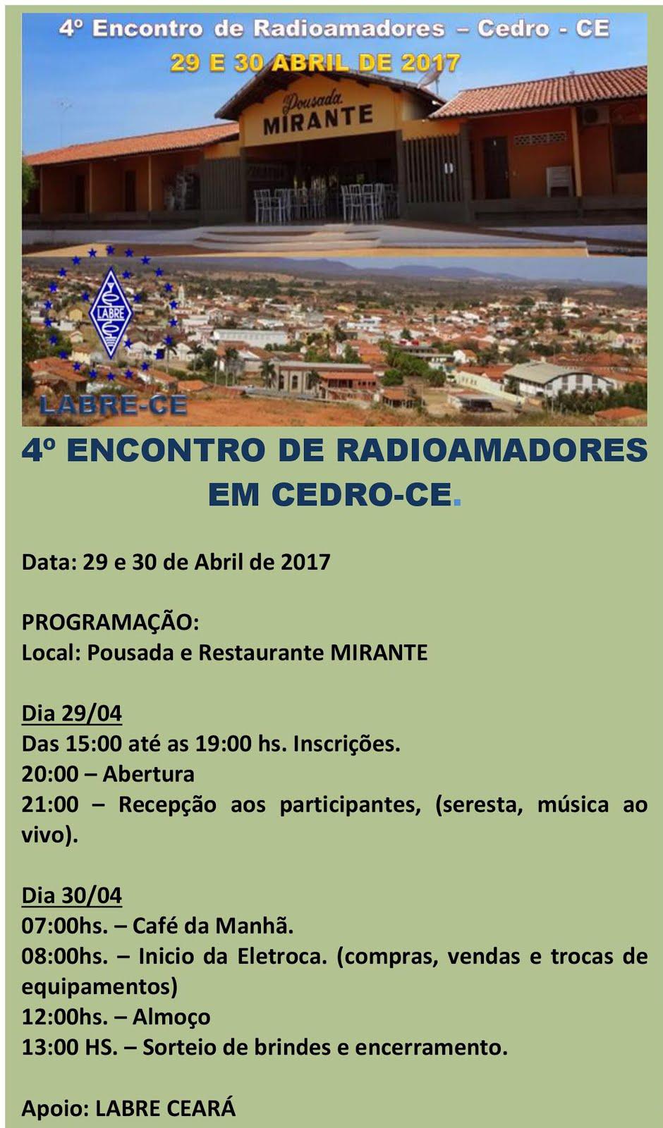 4º ENCONTRO DE RADIOAMADORES EM CEDRO - CE