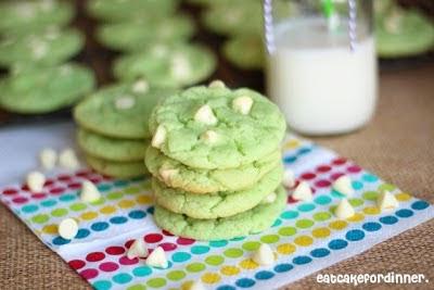 Pistachio Cake Mix Cookies