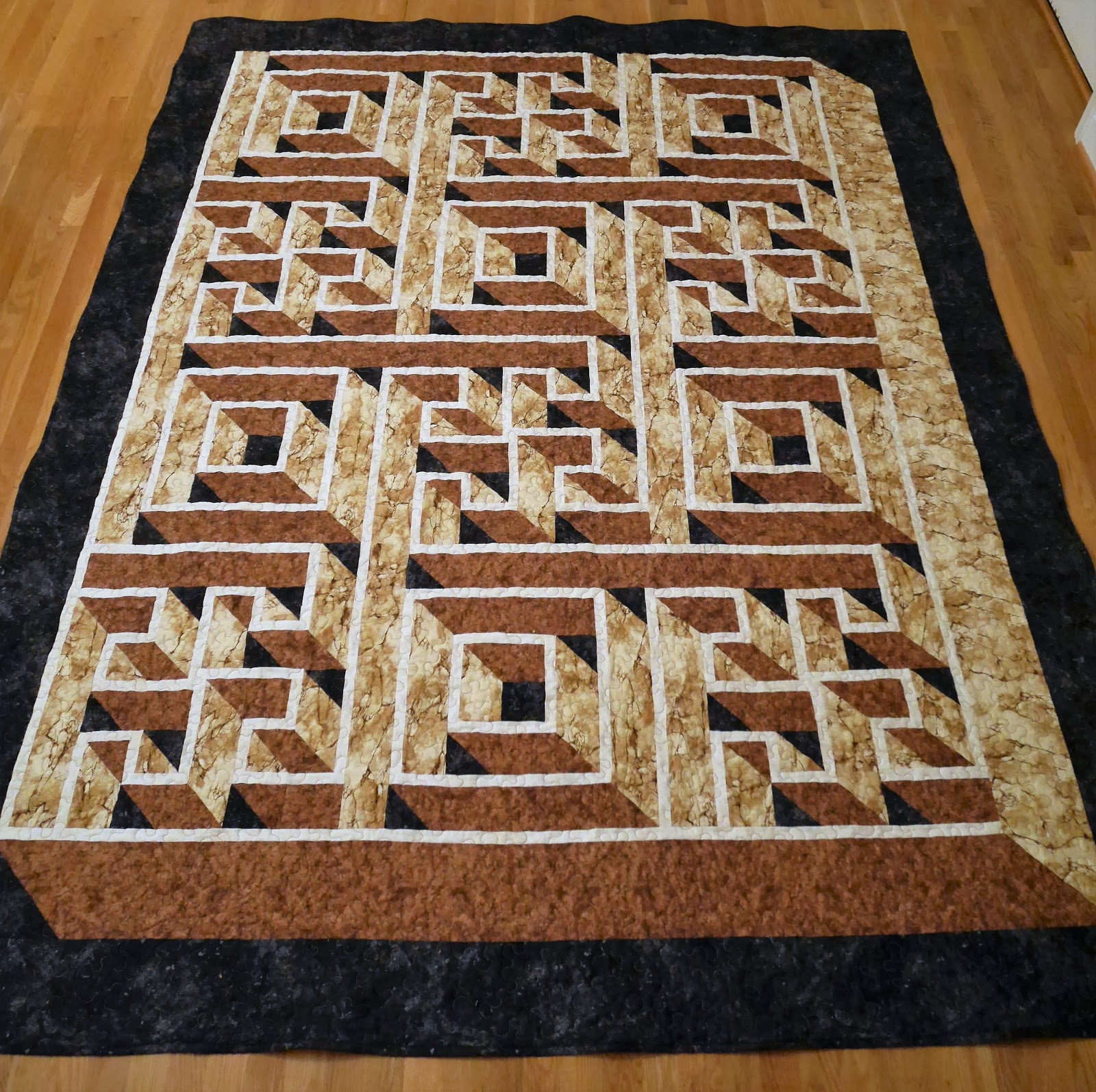 darlaville: Labyrinth Walk quilt completely finished : labyrinth quilts - Adamdwight.com