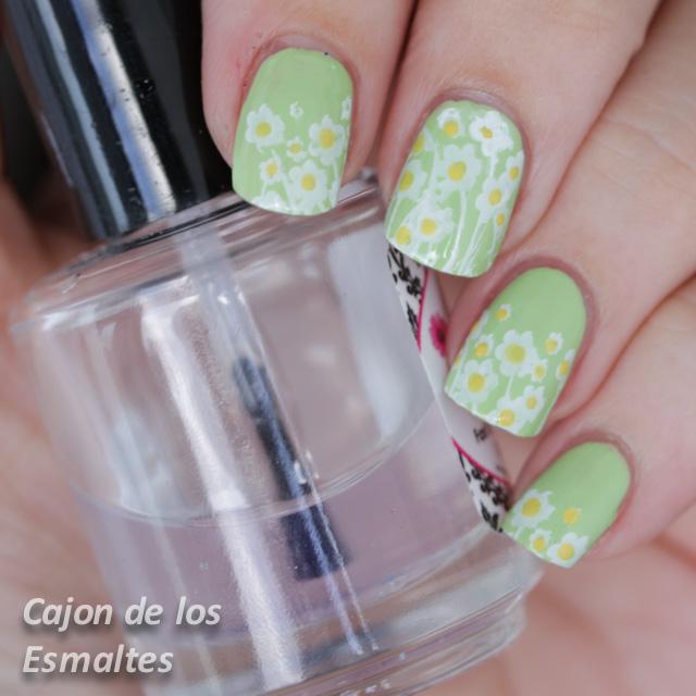 Decoración de uñas con flores - Margaritas - Placa L001 de Bornpretty