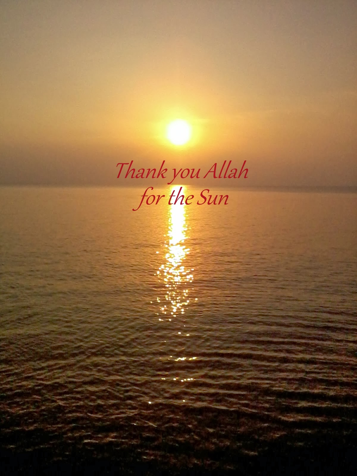 WW 26 Thank you Allah for the Sun