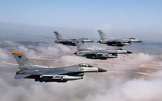 formation of f 16 fighting falcons (53)