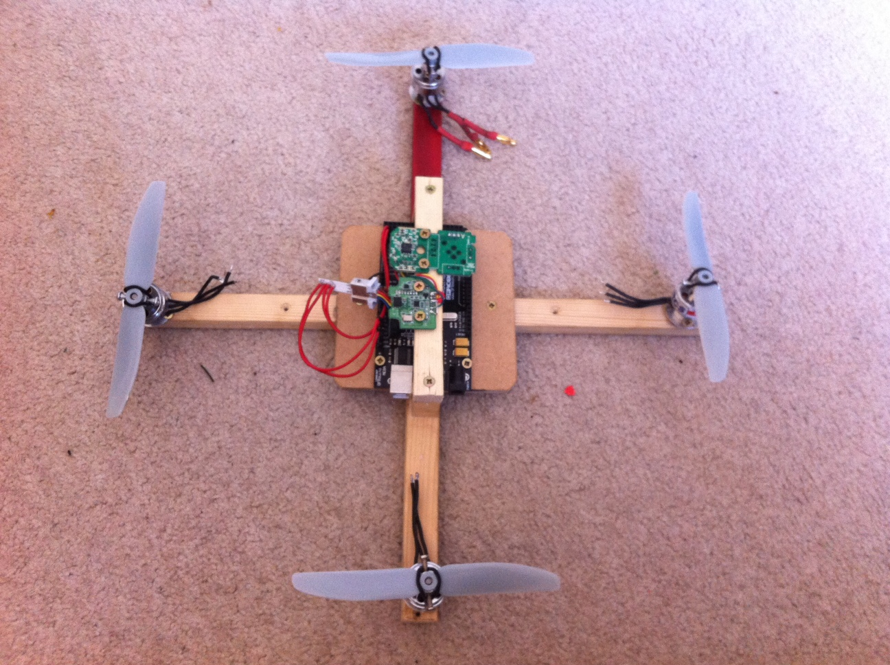 Arduino quadcopter begining of the miniquad