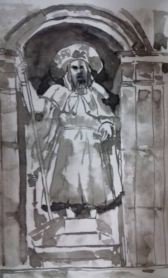 Santiago Apóstol sobre la Puerta Santa o del Perdón