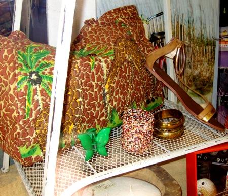 Bolsa de playa animal print jirafas