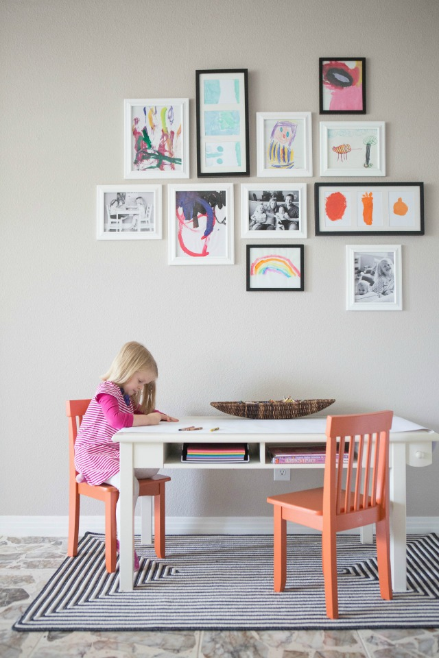 kids art gallery wall design improvised