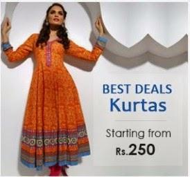 Buy Women's Kurtis At FLAT 40% OFF, Starting  Rs.250 at Rangrit.:buytoearn