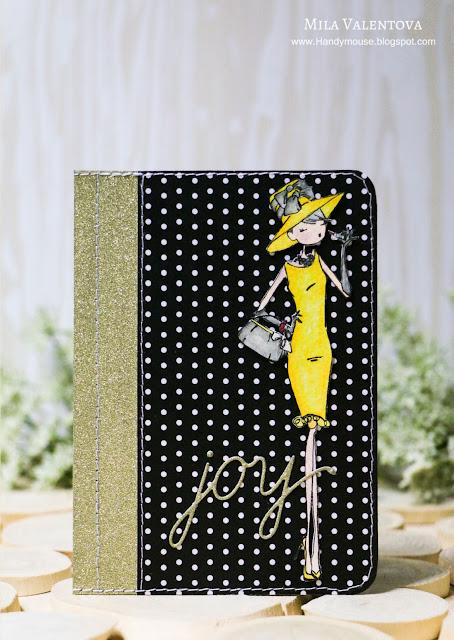 Обложка для паспорта Одри Хэпберн в искрящемся золоте. Мила Валентова.