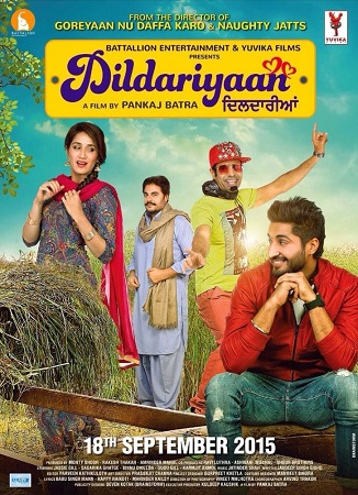 Poster Of Dildariyaan 2015 Punjabi 720p HDRip Free Download Watch Online
