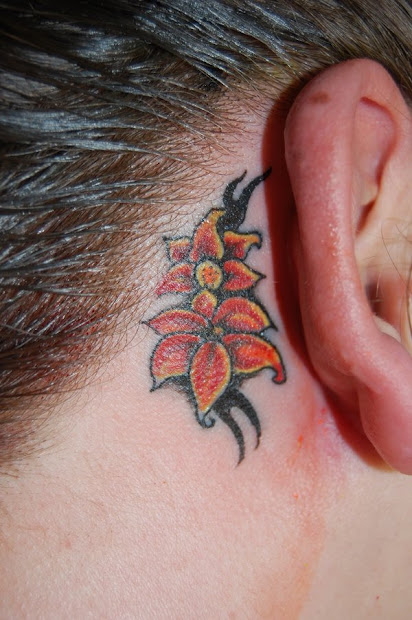 feminine ear tattoos girls