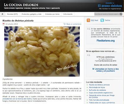 Captura de pantalla del blog La cocina delokos.
