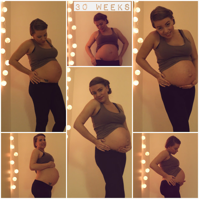 30 weeks pregnant belly
