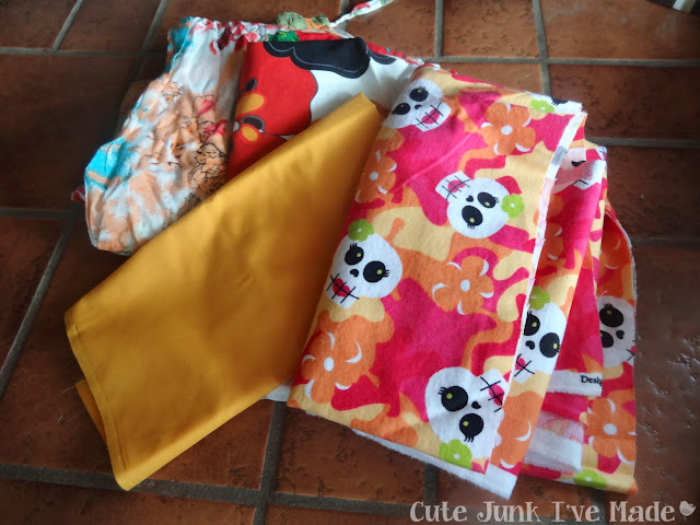 One-Hour Burp Cloths - Fabric Scraps