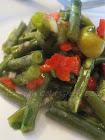شلادة اللّوبية/Moroccan Cold Green Beans (String Beans) Salad or Moroccan Flag Salad/ Salade d'Haric