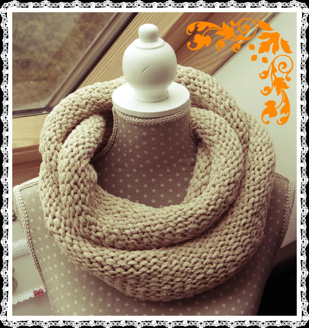 et encore un snood avec les aiguilles tricoter circulaires jueru couture et compagnie. Black Bedroom Furniture Sets. Home Design Ideas