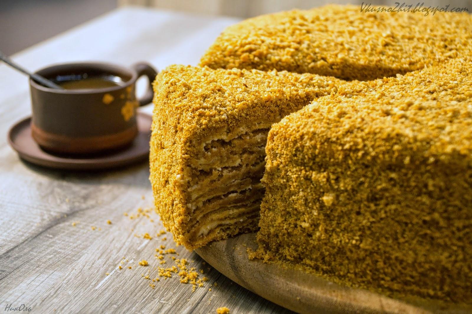 Торт медовик воздушный пошагово