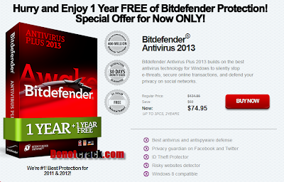 Free 1 year Bitdefender Antivirus Plus 2013