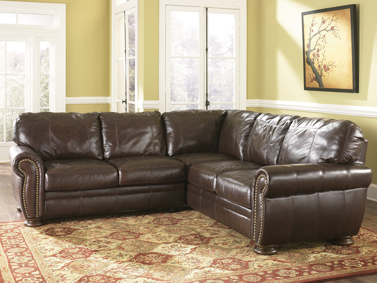 The furniture review our top 5 ashley furniture leather for Leather sectional sofa