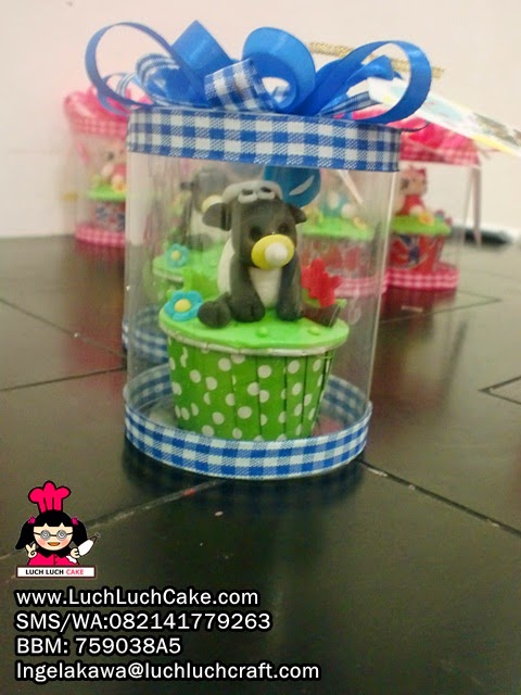Cupcake Lucu Shaun The Sheep Untuk Souvenir daerah surabaya - sidoarjo