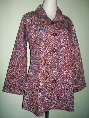 Model Kemeja Batik Lengan Panjang Untuk Wanita berhijab