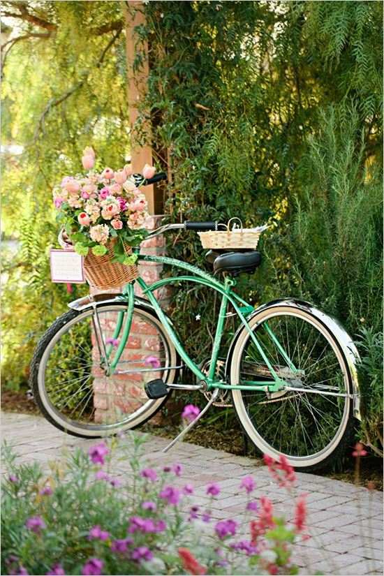 bicycles with flowers wallpaper - photo #39