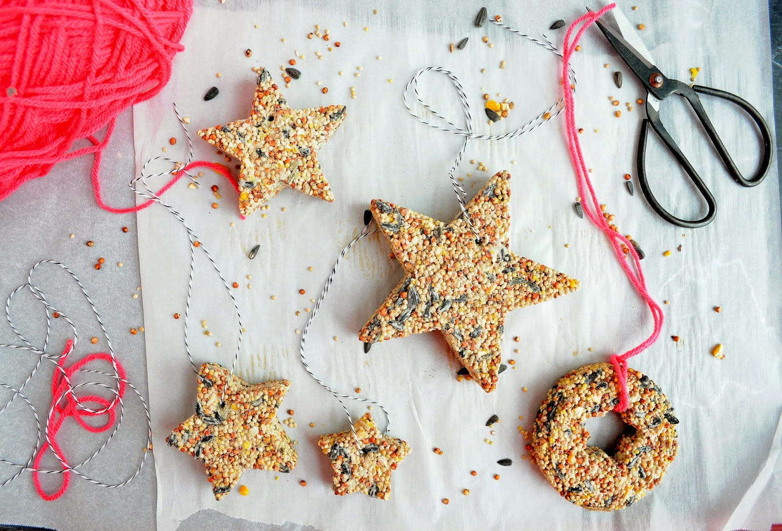 babiekins // craftykins // diy hanging birdseed feeder ornaments