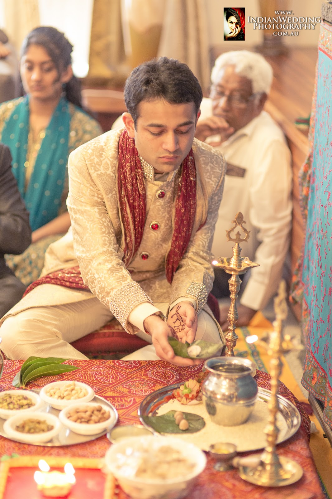 The Ceremony Was Conducted By A Hindu Poojari Priest Who Explained Rituals Along Way Pooja Took Place In An Hour And Guests Were Offered