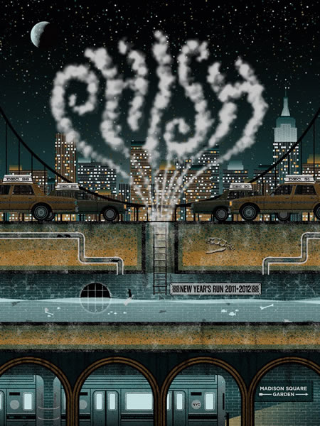 Phish: official 12/28-12/31 Poster (blue edition)