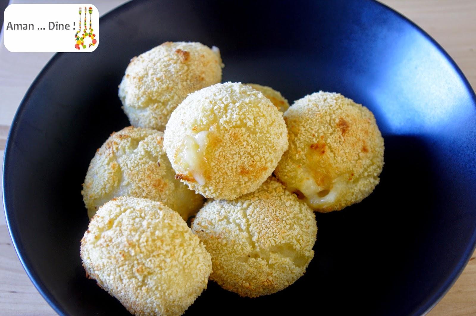 Croquettes de pomme de terre et chèvre sans friture