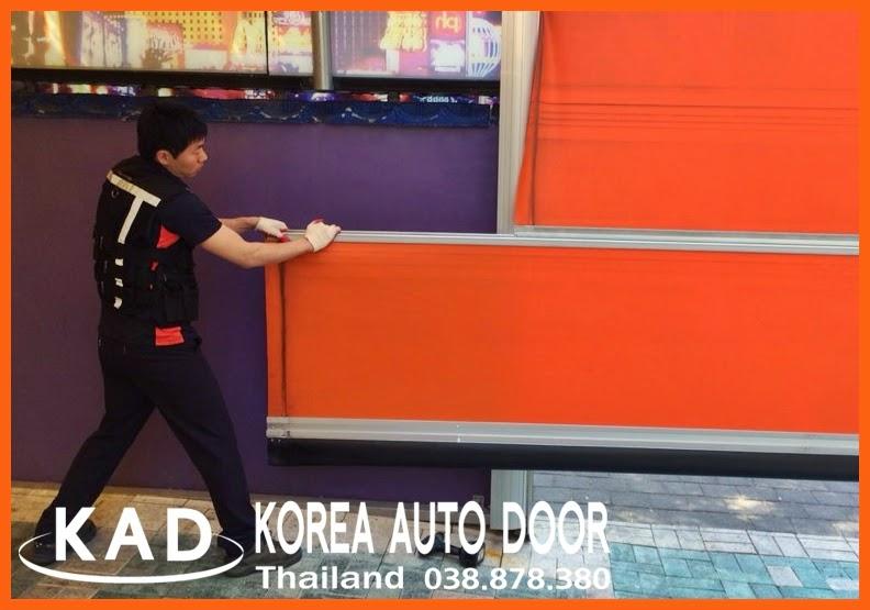 KAD high speed door(ประตูอัตโนมัติความเร็วสูง) KAD-2000 can change the sheet easily.