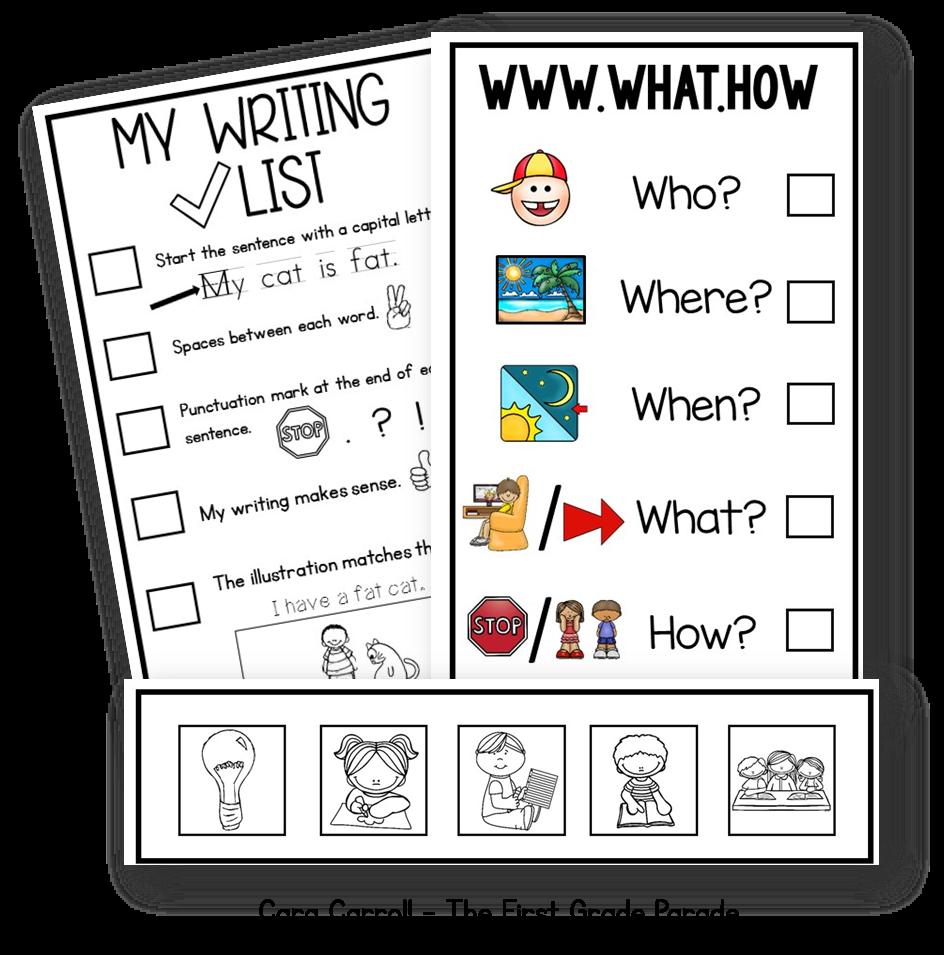 essay checklist kids