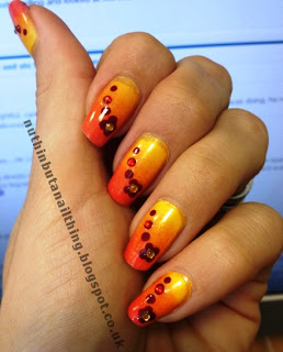 tequila sunrise gradient nails