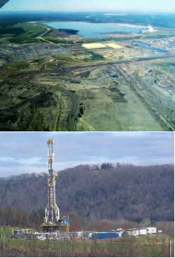 Syncrude Mildred plant at Athabasca, Canada and the Marcellus Shale in Pennsylvania