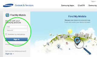 Cara mengaktifkan fitur find my mobile Samsung