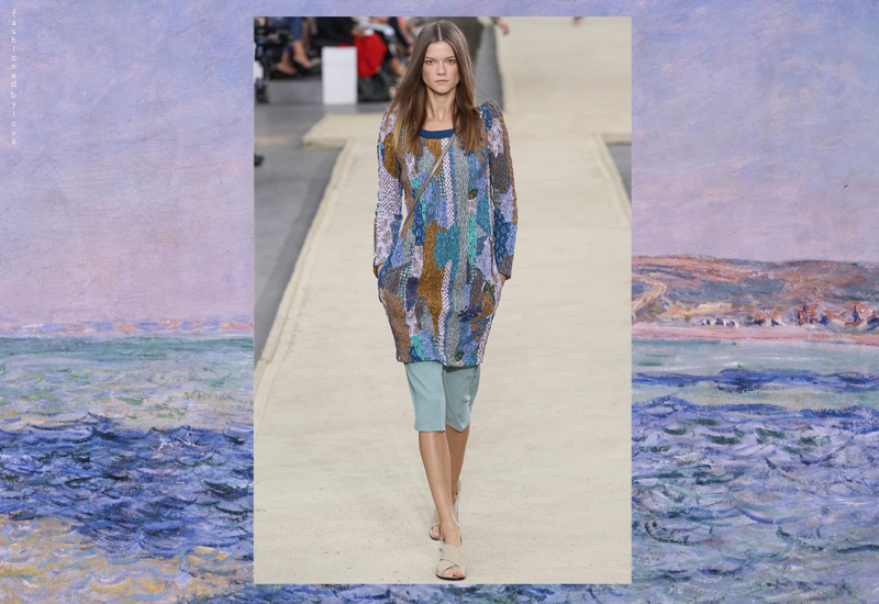 Clare Waight Keller might not have though of it, but this beautiful sweater really resembles the brush strokes of a Monet landscape