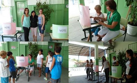 Fato inédito foi a votação eletrônica. nas eleições para o Grêmio Estudantil.