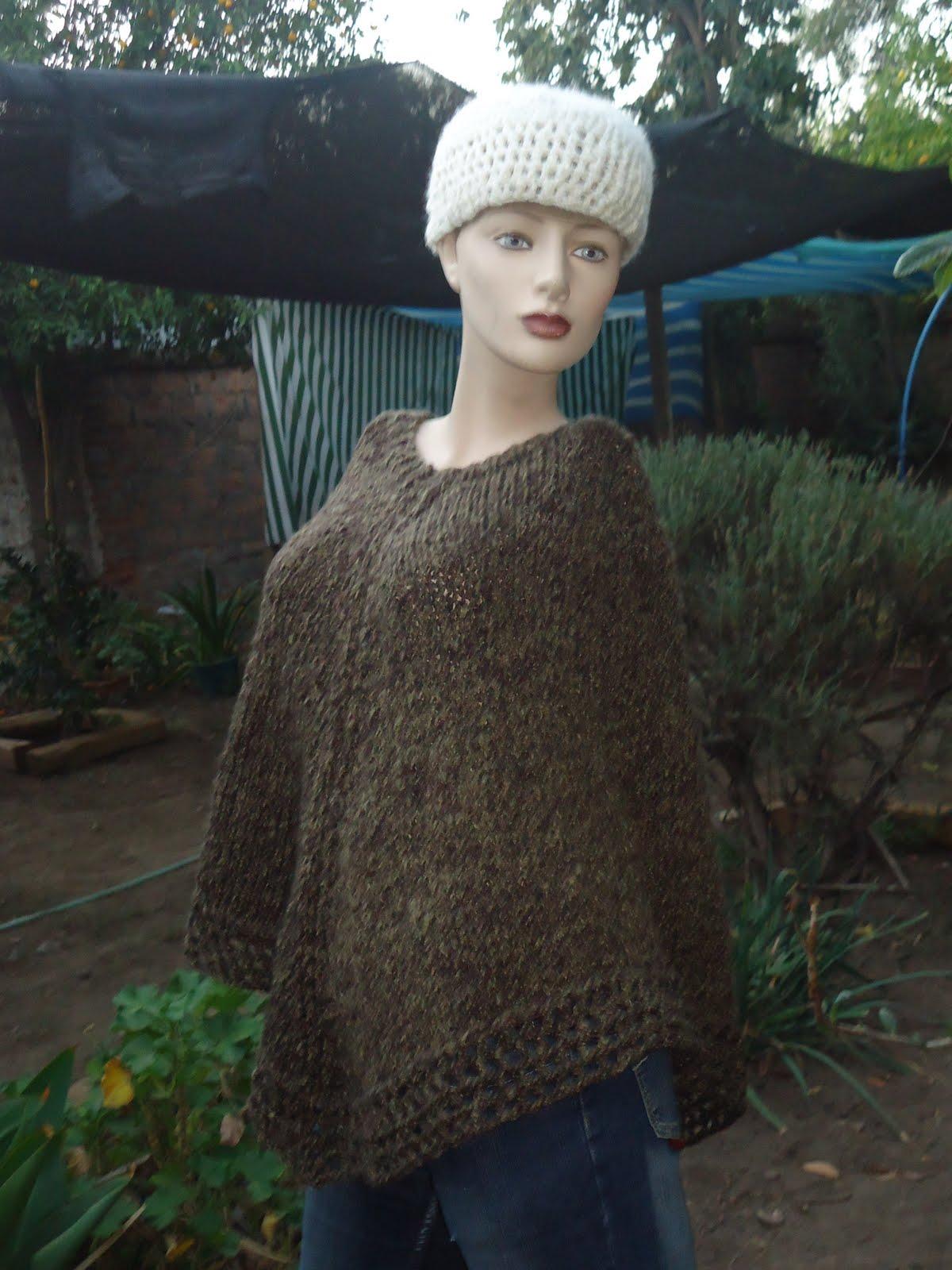Imagenes de ponchos tejidos a palillo - Imagui