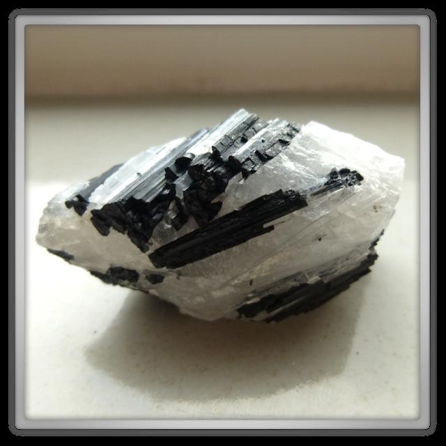 Toermalijn in Bergkristal uit China