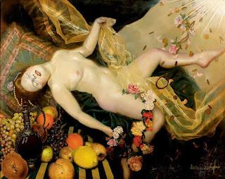 Oleo De Mujer Desnuda